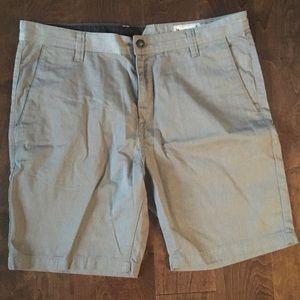 Men's Gray Volcom Frickin Modern Stretch Shorts